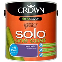 Crown Solo One Coat Midsheen Colours Paint - 2.5 Litre