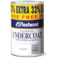 Fleetwood Traditional Undercoat Paint - 750ml + 33% Extra Free