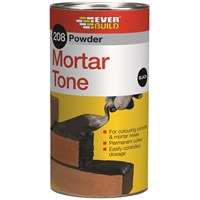 Everbuild  208 Powder Mortar Tone 1kg - Black