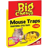 The Big Cheese  Baited RTU Mouse Trap - Twinpack
