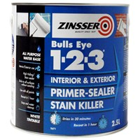 Zinsser  Bulls Eye 1-2-3 Primer Sealer - 2.5 Litre