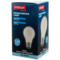 Eveready  Rough Service GLS Light Bulb - 150W BC