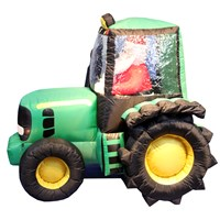 Jingles  Inflatable Santa on Tractor - 1.5m