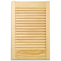 Applications  Pine Louvre Kitchen Cabinet Door - 48in