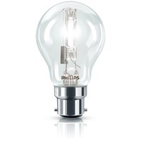 Philips EcoClassic B22 Halogen Candle Light Bulb - 18W