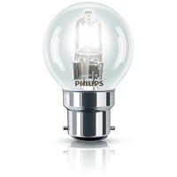 Philips EcoClassic B22 Golf Ball Light Bulb - 42W