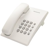 Panasonic  Corded Desk Phone White - KXTS 500